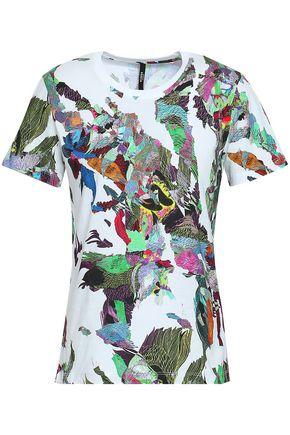 VERSUS VERSACE Printed cotton-jersey T-shirt