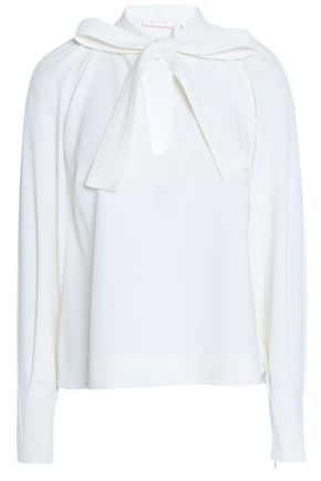 SEE BY CHLOÉ Pussy-bow crepe blouse