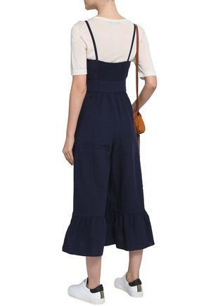 SEE BY CHLOÉ Gathered cotton-blend jumpsuit