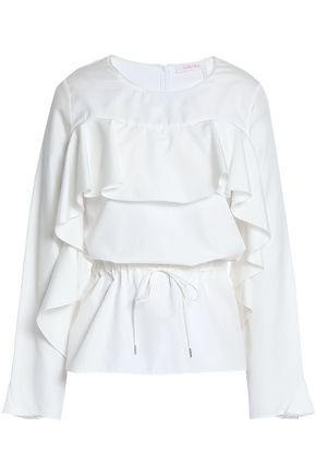 SEE BY CHLOÉ Ruffled cotton-poplin blouse