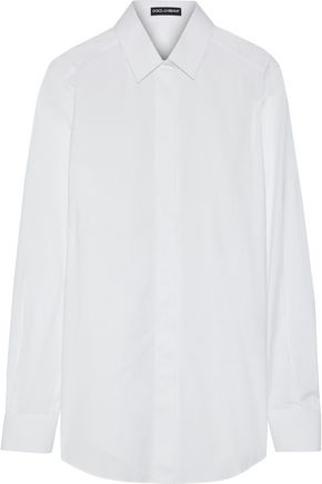 DOLCE & GABBANA Cotton-blend poplin shirt
