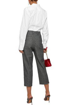 DOLCE & GABBANA Lace-appliquéd cotton-blend poplin shirt