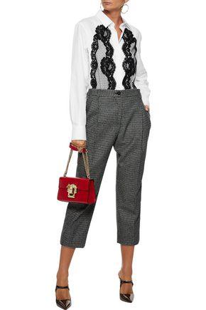 11eb77887b DOLCE   GABBANA Lace-appliquéd cotton-blend poplin shirt