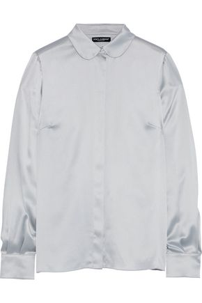DOLCE & GABBANA Stretch-silk satin shirt