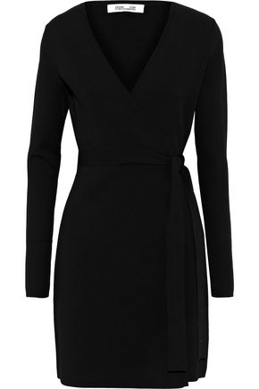 DIANE VON FURSTENBERG Stretch-ponte wrap dress