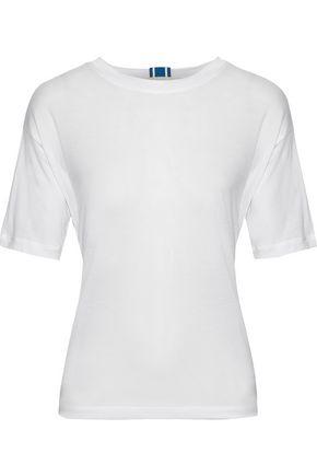 DIANE VON FURSTENBERG Tie-back slub Tencel-jersey T-shirt