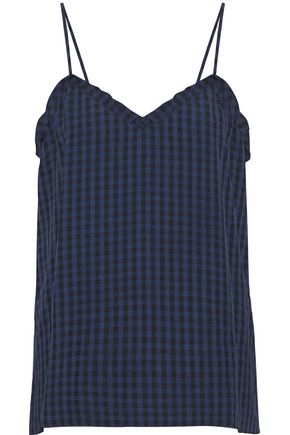 TIBI Gingham flannel camisole