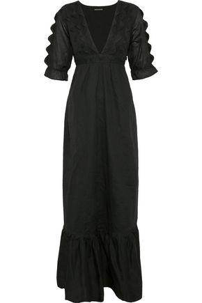 ANTIK BATIK Lolaa tie-back scalloped cotton-voile maxi dress