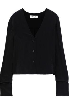 DIANE VON FURSTENBERG Silk-crepe blouse