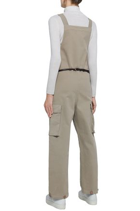 SEE BY CHLOÉ Button-detailed cotton-blend sateen jumpsuit