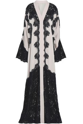 DOLCE & GABBANA Corded lace and silk-blend crepe gown