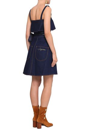 SEE BY CHLOÉ Layered denim mini dress