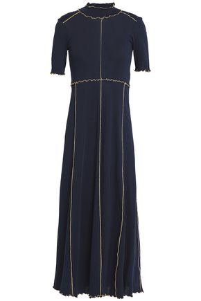 SEE BY CHLOÉ Ruffle-trimmed cotton-jersey midi dress