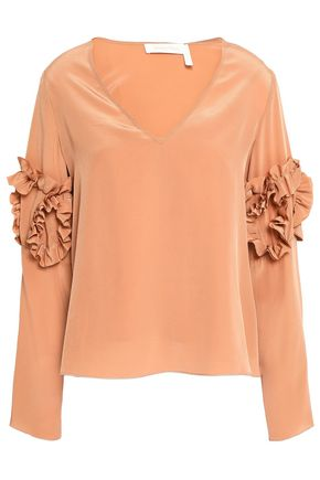 SEE BY CHLOÉ Ruffle-trimmed silk top