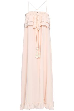 SEE BY CHLOÉ Strapless ruffle-trimmed silk-satin maxi dress