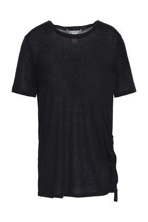 AUTUMN CASHMERE Ruched cotton T-shirt
