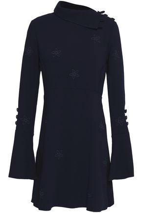 SEE BY CHLOÉ Button-detailed crepe mini dress