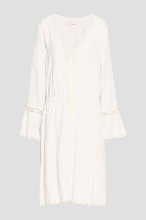 SEE BY CHLOE | See By Chloé Woman Lace-trimmed Piqué Dress White | Goxip