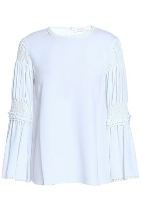 SEE BY CHLOÉ Shirred piqué blouse