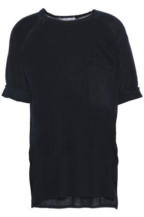 AUTUMN CASHMERE Open-knit cotton T-shirt