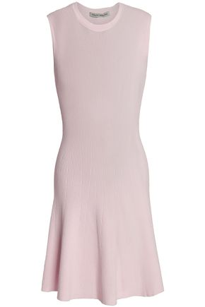 AUTUMN CASHMERE Ribbed-knit mini dress