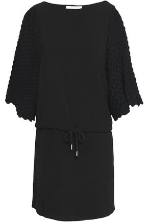 SEE BY CHLOÉ Crochet-paneled crepe mini dress