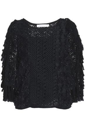 SEE BY CHLOÉ Fringed fil coupé and crochet top