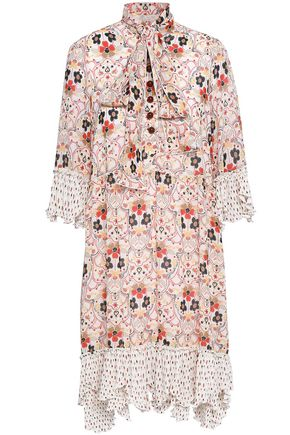 SEE BY CHLOE | See By Chloé Woman Printed Crepe Mini Dress Off-white | Goxip