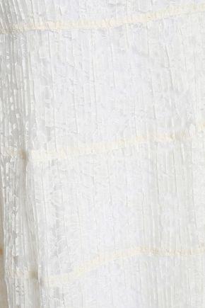 SEE BY CHLOÉ Plissé-lace turtleneck dress