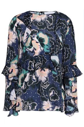SEE BY CHLOÉ Ruffled printed crepe de chine blouse