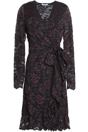 GANNI Lace wrap dress