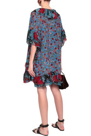SEE BY CHLOÉ Ruffled georgette-trimmed floral-print silk mini dress
