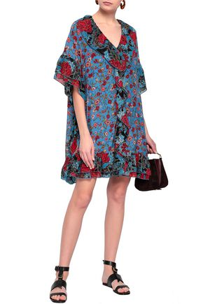 2669d583aa8 SEE BY CHLOÉ Ruffled georgette-trimmed floral-print silk mini dress