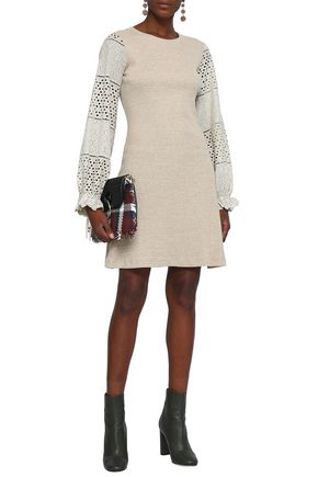 SEE BY CHLOÉ Broderie anglaise cotton-jersey dress