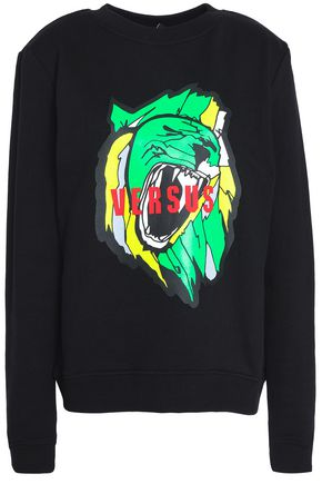 VERSUS VERSACE Printed French cotton-terry sweatshirt