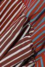 DIANE VON FURSTENBERG Paneled striped poplin midi wrap dress