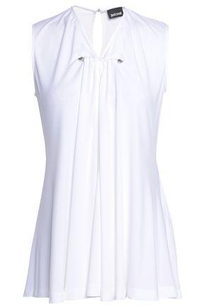 JUST CAVALLI Cutout stretch-jersey top