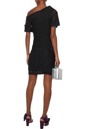 CHRISTOPHER KANE Asymmetric lace mini dress