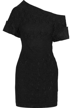 CHRISTOPHER KANE Asymmetric lace mini dress