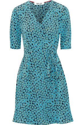 DIANE VON FURSTENBERG New Savilla printed silk mini wrap dress