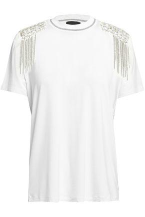 JUST CAVALLI Embellished stretch-jersey T-shirt 14defe4db