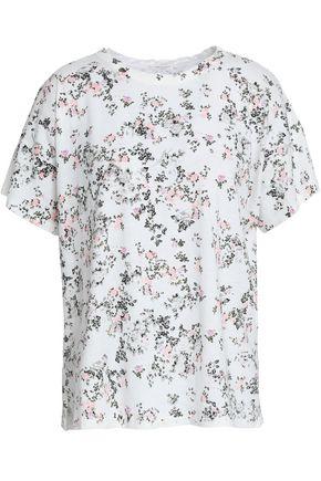 RAG & BONE フローラルプリント ピマコットンジャージー Tシャツ