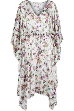 DOLCE & GABBANA Draped floral-print silk-satin dress