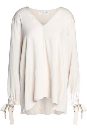 HALSTON HERITAGE Ruffled silk-blend crepe blouse