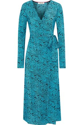 DIANE VON FURSTENBERG Tilly printed silk crepe de chine midi wrap dress