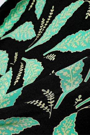DIANE VON FURSTENBERG Bow-detailed printed silk midi dress