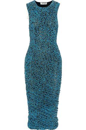DIANE VON FURSTENBERG Ruched floral-print gauze dress