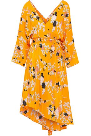 DIANE VON FURSTENBERG Eloise asymmetric floral-print silk crepe de chine wrap dress