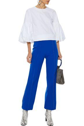 TIBI Watts button-embellished cotton Oxford blouse