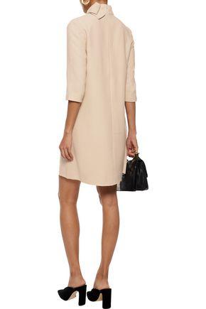 GOAT Ava bow-embellished wool-crepe turtleneck mini dress